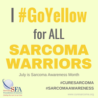 I GoYellow for my ALL SARCOMA WARRIORS thumbnail